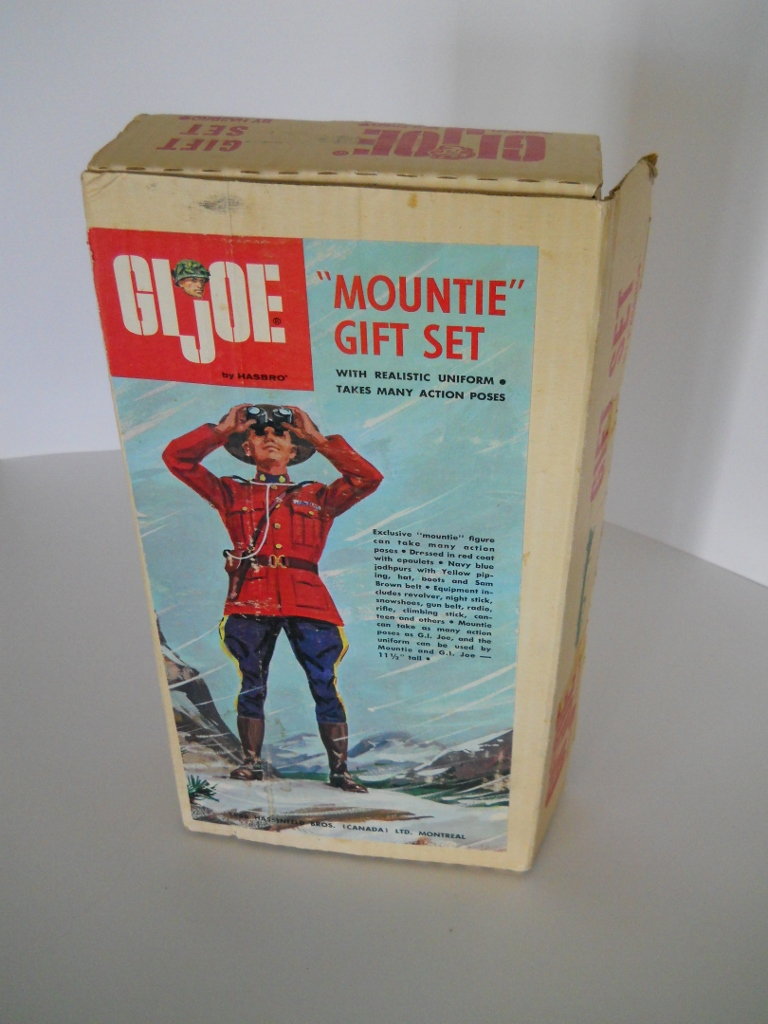 Shown below are a number of images of the corrugated box that the exclusive  Simpsons-Sears GI Joe Mountie Gift Set came in. b3ac9cb046d8